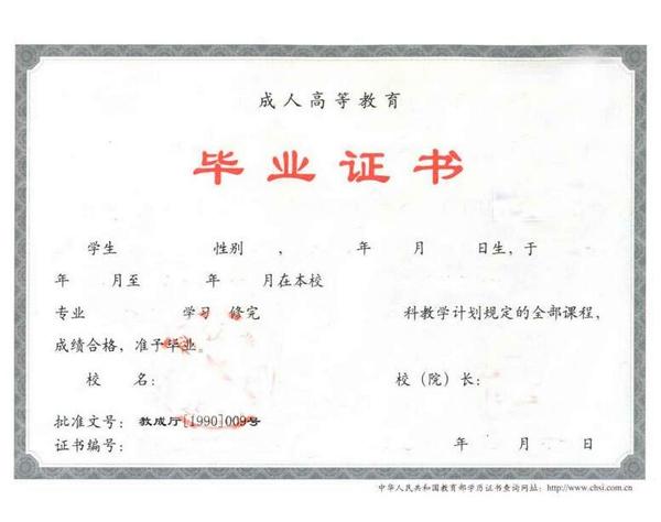 启东成人高考毕业证